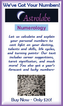 Astrolabe's Numerology Report